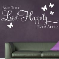 And they Lived Happily Ever After ~ Wall sticker / decals 1